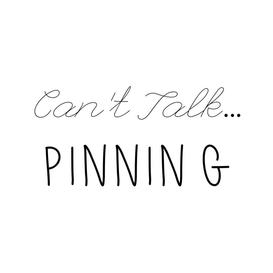 Can't talk... Pinning #pinterest #addiction