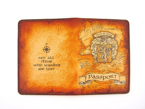 Leather Passport Cover With Boarding Pass Holder Free