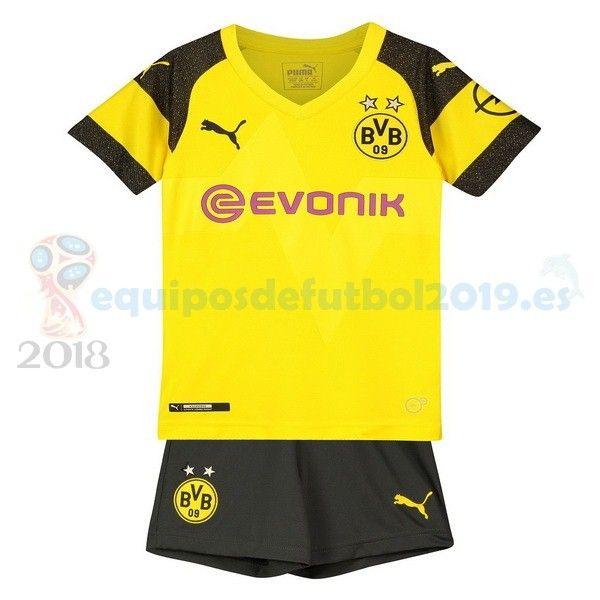 8b131723be3a8 Futbol Originales Casa Conjunto De Niños Borussia Dortmund 2018 2019  Amarillo