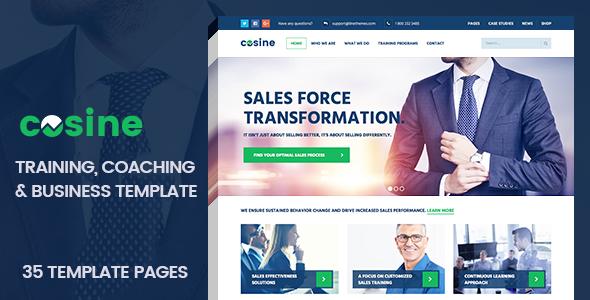 Cosine training coaching business html template website cosine training coaching business html template wajeb Images