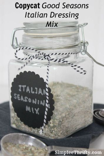 Copycat Good Seasons Italian Dressing Mix #recipes #copycat