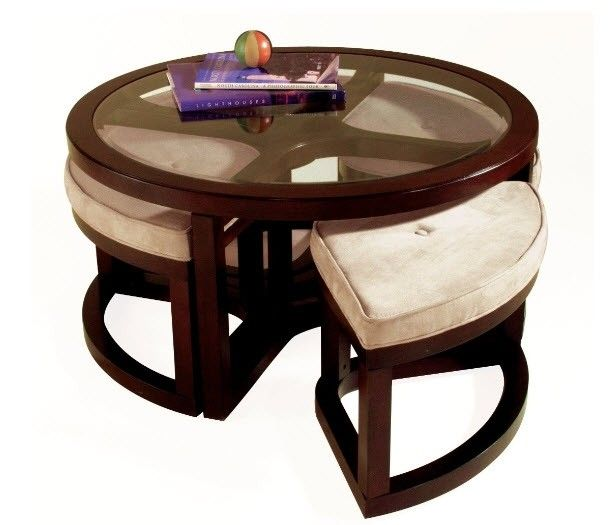 Coffee Tables With Seating Underneath Foter Round Wood
