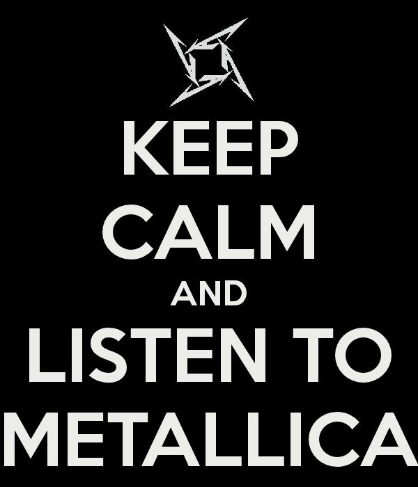 This is what I'm doing right now, Metallica is my happy music :)
