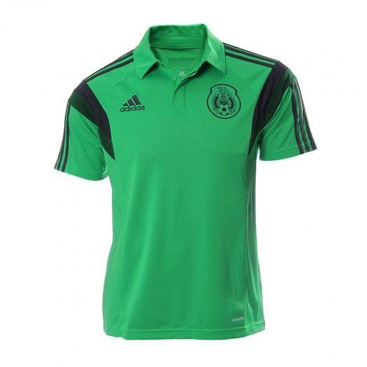 Demuestra tu pasión por la Selección Mexicana con tu playera Polo FMF de  Adidas y úsala b23881ee60840