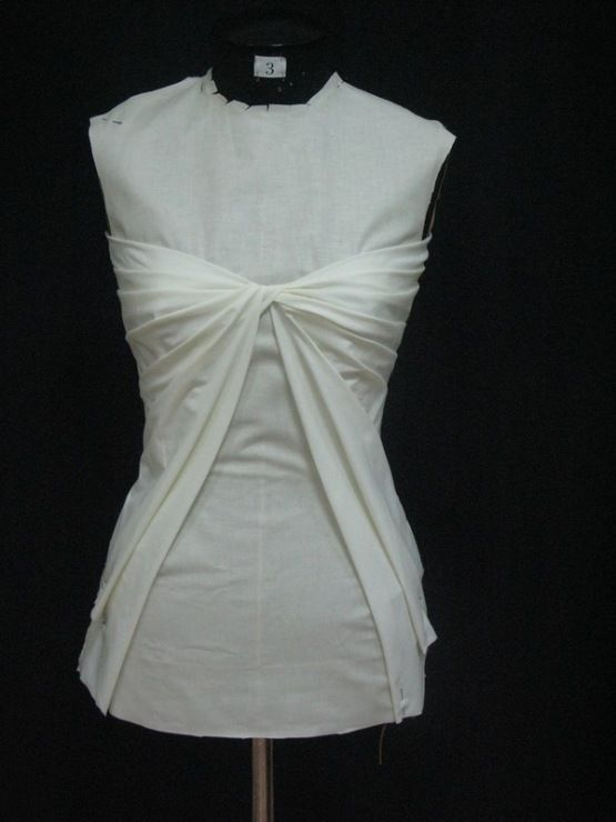 Draping On The Stand Bodice Design With Twist Pleat