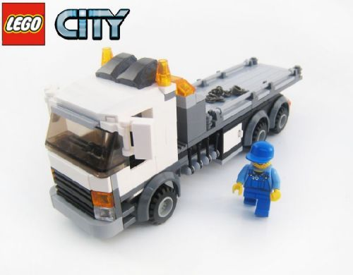 Lego City Tow Truck Flatbed A Lego Creation By Brian Lyles Mocpages Com With Images Lego Truck Lego Cars Lego City