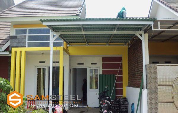 contoh rangka atap baja ringan minimalis pin di kanopi bajaringan