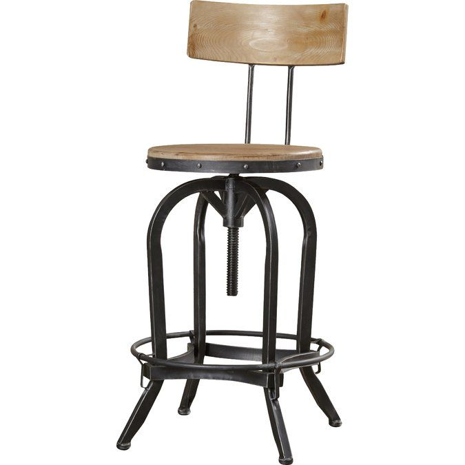 Hodges Adjustable Height Swivel Bar Stool Bar Stools