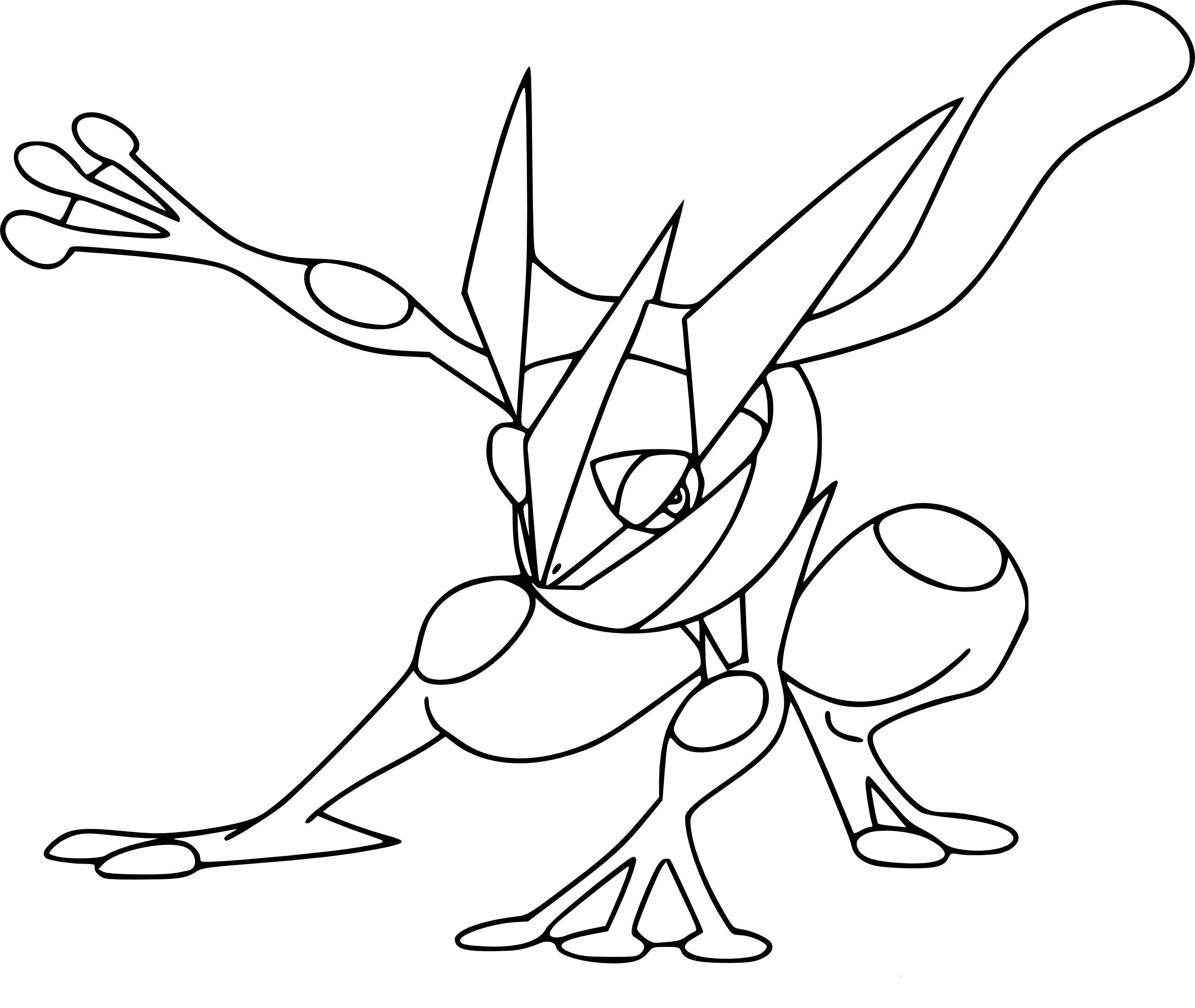 Coloriage Amphinobi Pokemon Okay Gesture