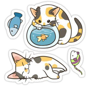 Pin By Volchonok On Tt In 2021 Cat Stickers Cute Stickers Kawaii Stickers