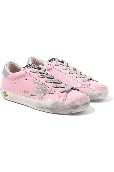 2daff66ae826d Golden Goose Deluxe Brand Kids - Size 28 - 35 Superstar Distressed Cracked  Patent-leather