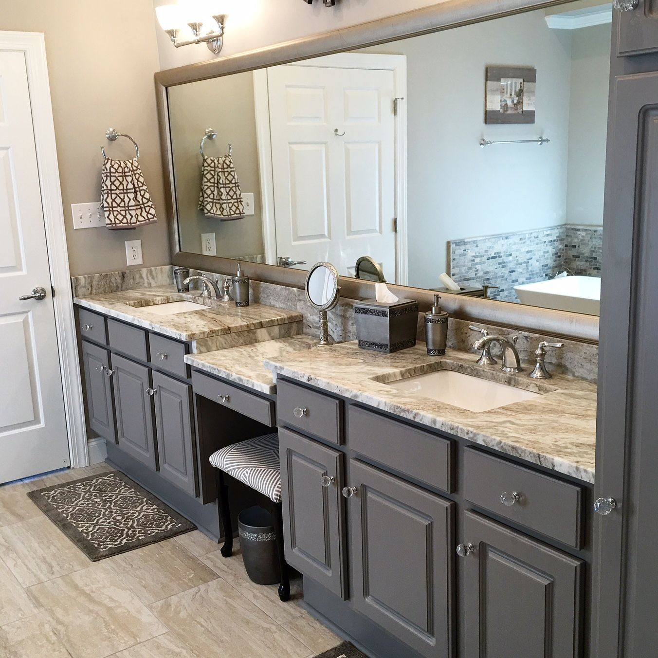Cool Painted Cabinets Benjamin Moore 1475 Graystone Walls 1550 Download Free Architecture Designs Remcamadebymaigaardcom