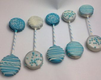 Chocolate Covered Oreo Rattle Pop Baby Shower Pops Baby Shower