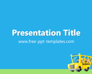 School powerpoint template is a blue template with appropriate school powerpoint template is a blue template with appropriate background image of school bus which you toneelgroepblik Images