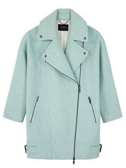 xiaohuoban Men Wool Blend Coat Double Breasted Pea Coat Jacket