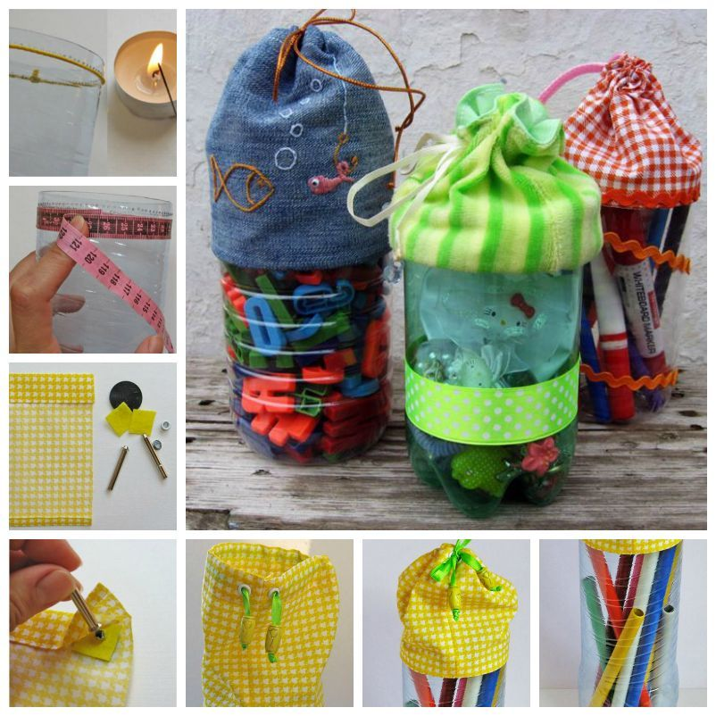 Diy pretty plastic bottle bags bottle bag plastic for Diy recycled plastic bottles