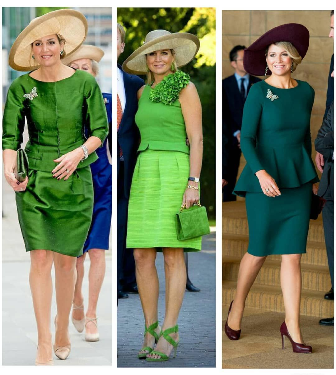 Hmqueenmaxima On Instagram Queen Maxima S Green Outfits 2 2 Which Is Your Favorite Outfit Queenmaxima K Green Outfit Favorite Outfit Outfits [ 1207 x 1080 Pixel ]