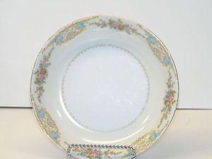 "Vintage Noritake M Japan Porcelain Floral Design Dish Soup Bowl White 7-1/4"" #vintage #noritake #japanese #porcelian #foral"