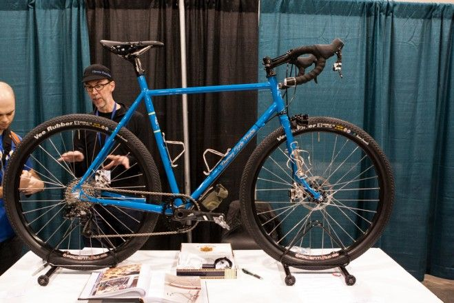 """Best Headlight Integration: Kevin Harvey of Harvey Cycleworks created this 27"""" wheeled adventure bike, and fabricated his own headlight clus..."""