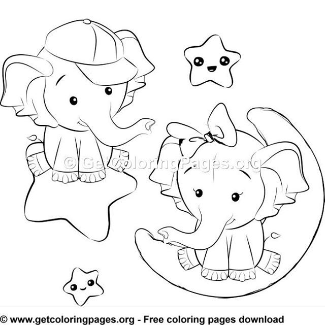 Free Coloring Pages Elephant Coloring Page Cute Coloring Pages Baby Elephant Drawing