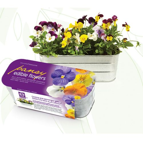 The Pansy Edible Flowers Grow Kit Is The Perfect Gift For Someone Who Will Enjoy A Colorful Addition To An Indoor Container Edible Flowers Plant Gifts Pansies