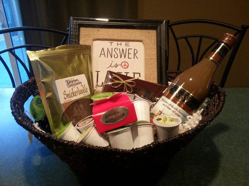 Coffee Wine And Chocolate Gift Basket Chocolate Gifts Basket