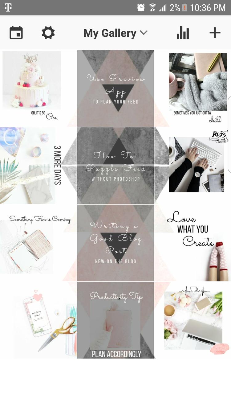 How To Make A Puzzle Feed Without Photoshop Paper A Plan дизайн фирменного стиля дизайн приложения шаблоны