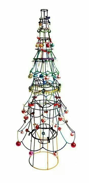 Lamp shade Christmas tree!