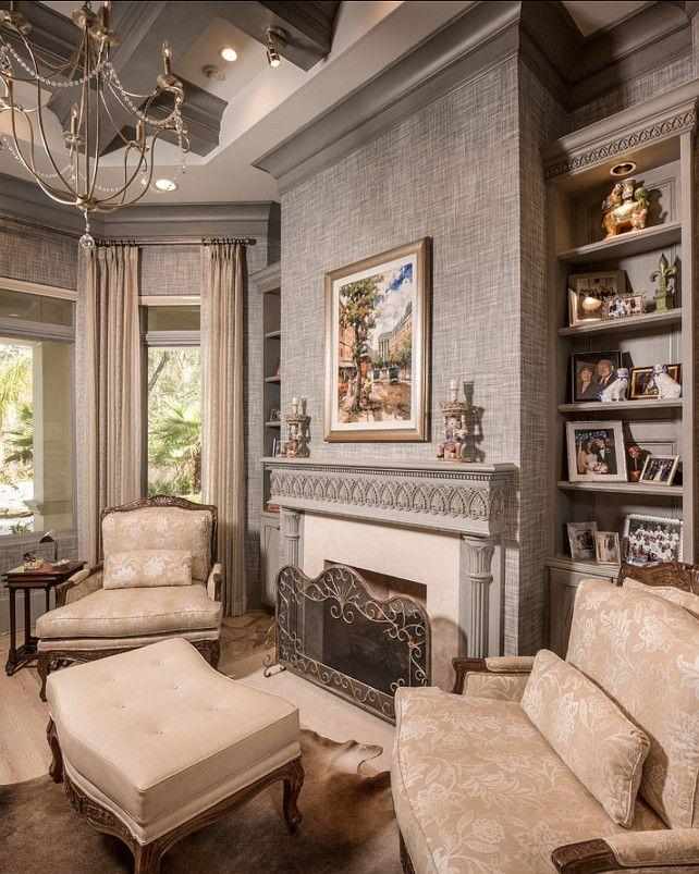 Tree Design Wallpaper Living Room: Grasscoth Wallpaper Ideas. #Grasscloth #Wallpaper