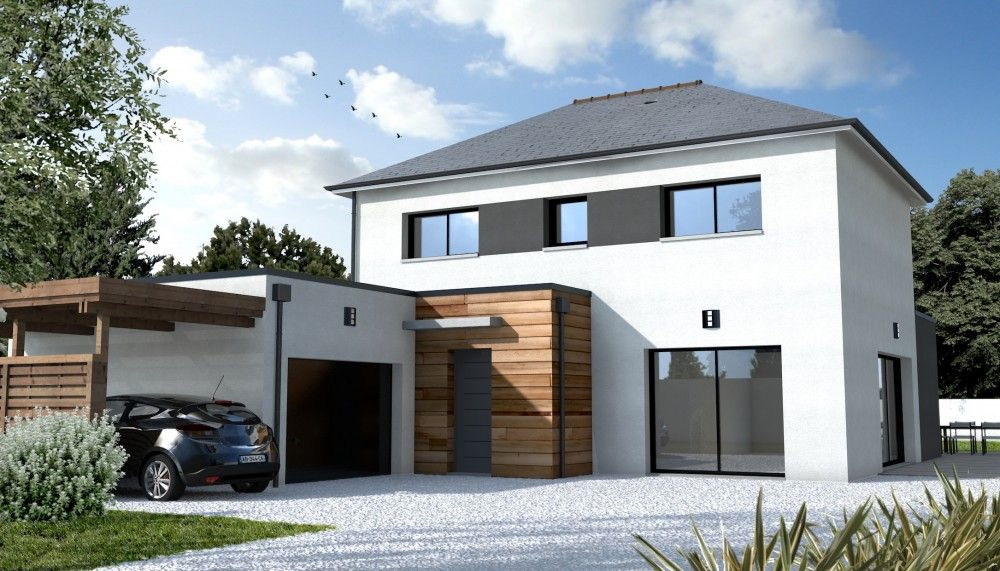 Constructeur maison contemporaine nantes zola 44 maison for Plans maisons contemporaines