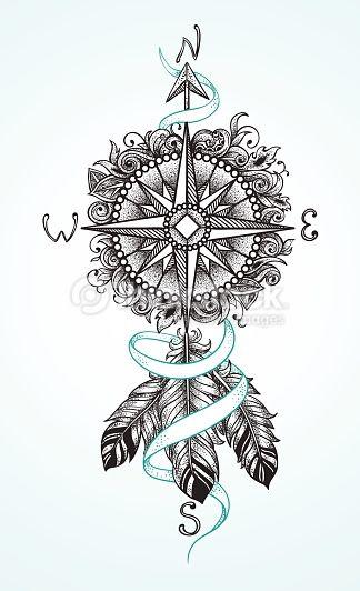 arrow compass tattoo - Tìm với Google