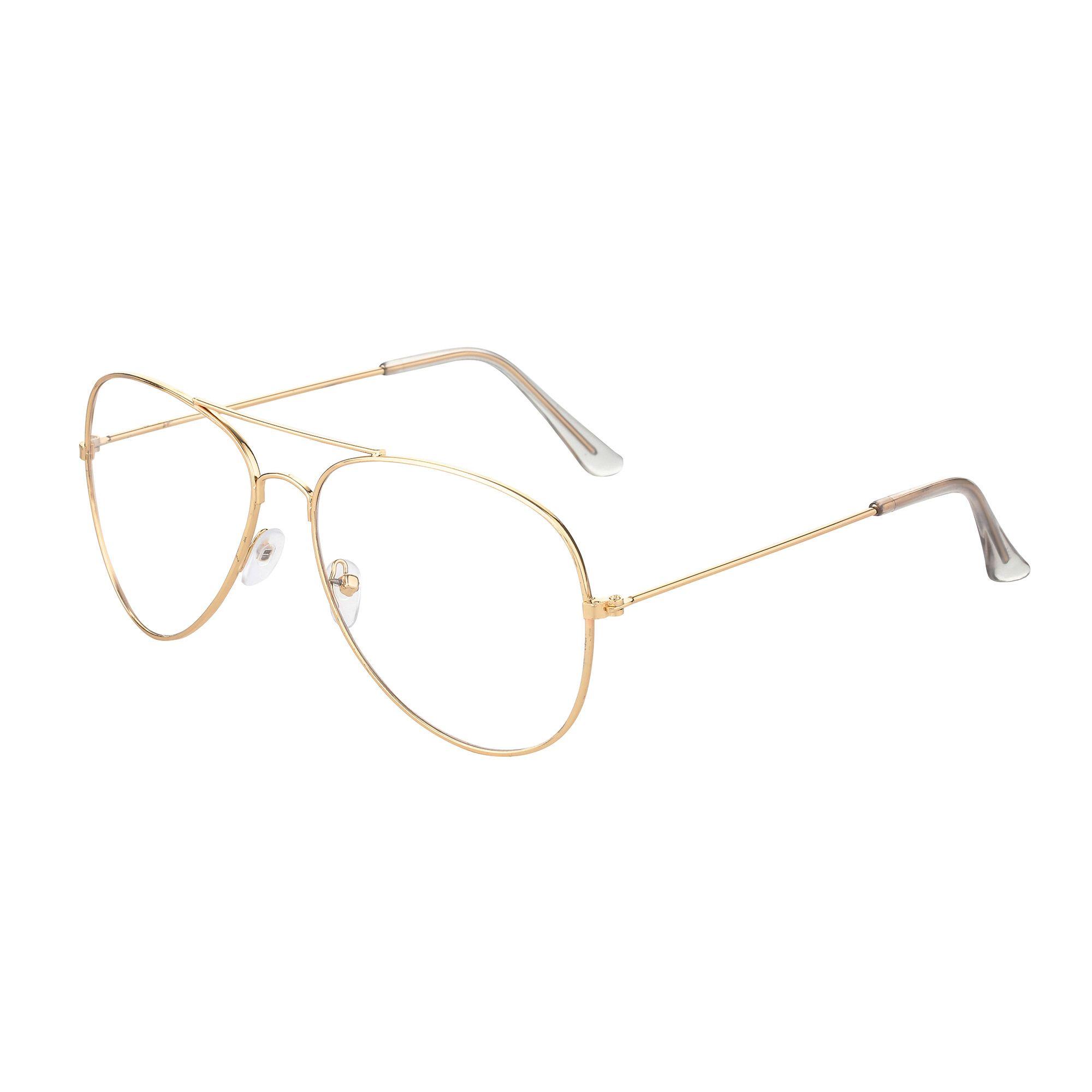 39b931acdd8 Aviation Alloy Frame Sunglasses Female Classic Optics Eyeglasses  Transparent Clear Lens Women Men glasses Optical Pilot Style
