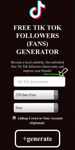Tiktok Fans And Followers Generator Free Tiktok Followers Free Followers Free Followers On Instagram How To Get Famous