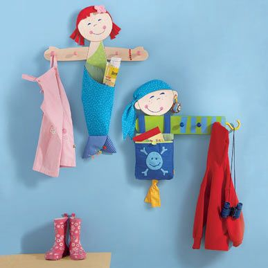 Mermaid And Pirate Themed Kids Hooks Cute Idea For A