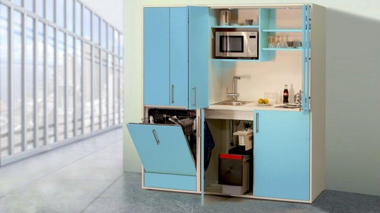 Schrankküche pro-art designLINE hellblau-weiß | Schrankküchen ... | {Miniküchen 31}