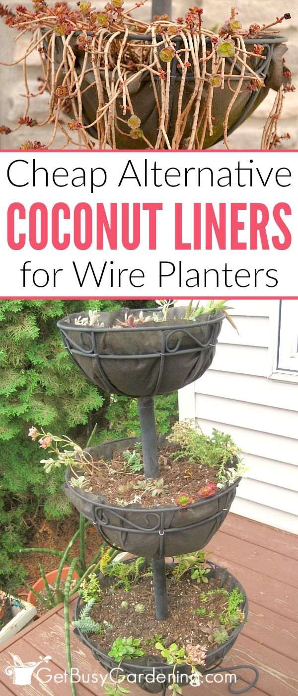 Looking For A Coco Liner Alternative Your Wire Basket Planters Here S How To Make Easy Diy Replacement Coconut Liners Hanging Baskets And