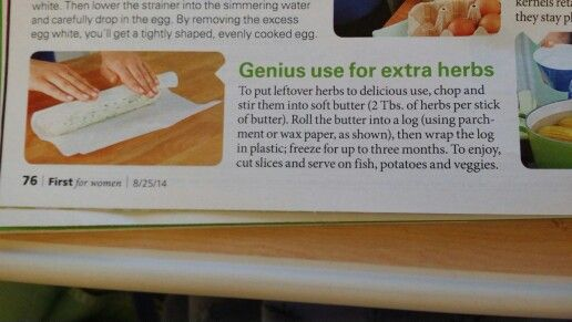 genius use for extra herbs