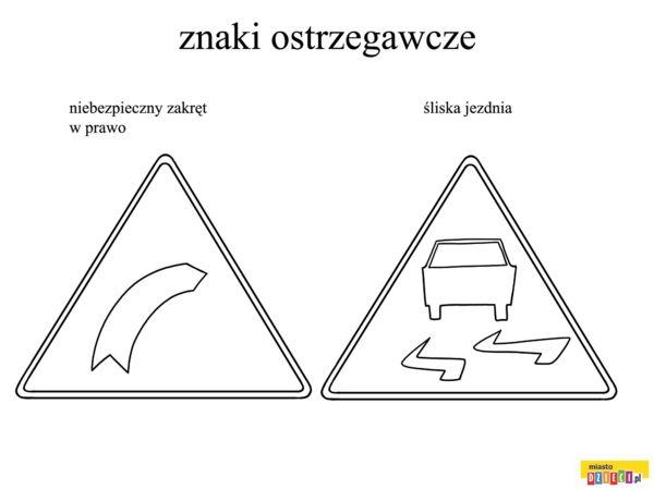 Znaki Drogowe Kolorowanki Dla Dzieci Coloring Pages Triangle