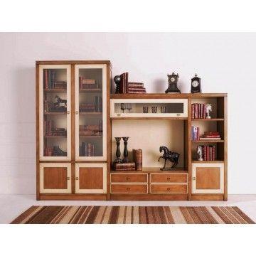 Librería TV Salón Clásica Sila  #Ambar #Muebles #Deco #Interiorismo | http://www.ambar-muebles.com/libreria-t-v-salon-clasica-sila.html