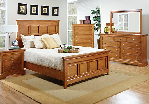 Best Shop For A Brookside Honey 5 Pc Queen Bedroom At Rooms To 400 x 300
