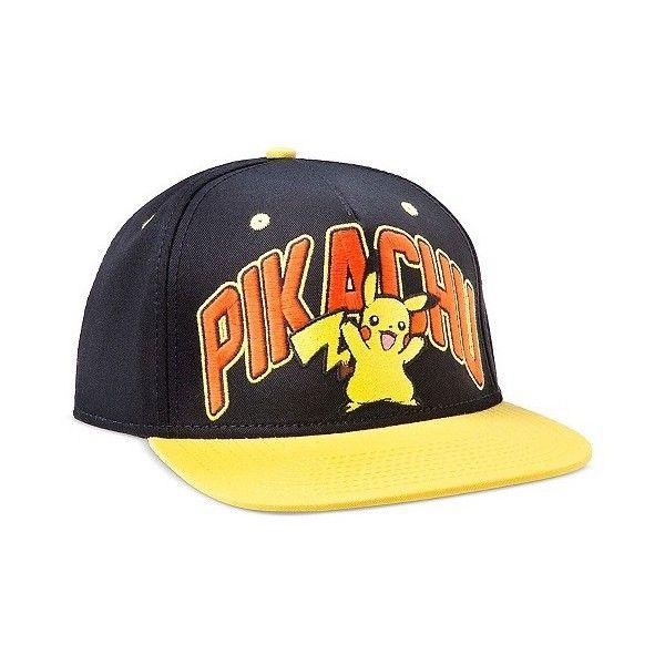 67b66a236fa Men s Pokemon Baseball Hat Black Yellow