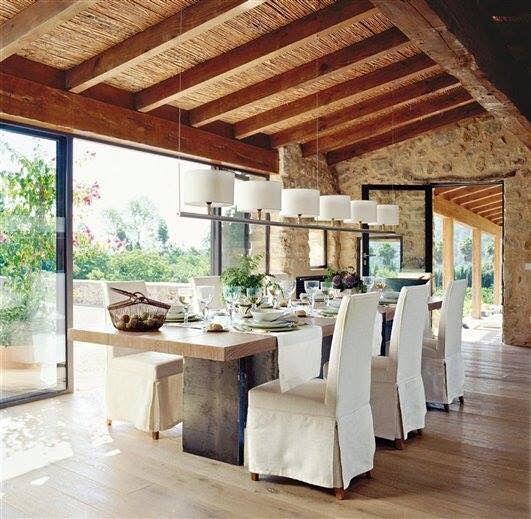 dining room contemporary rustic home casas comedores et interiores. Black Bedroom Furniture Sets. Home Design Ideas