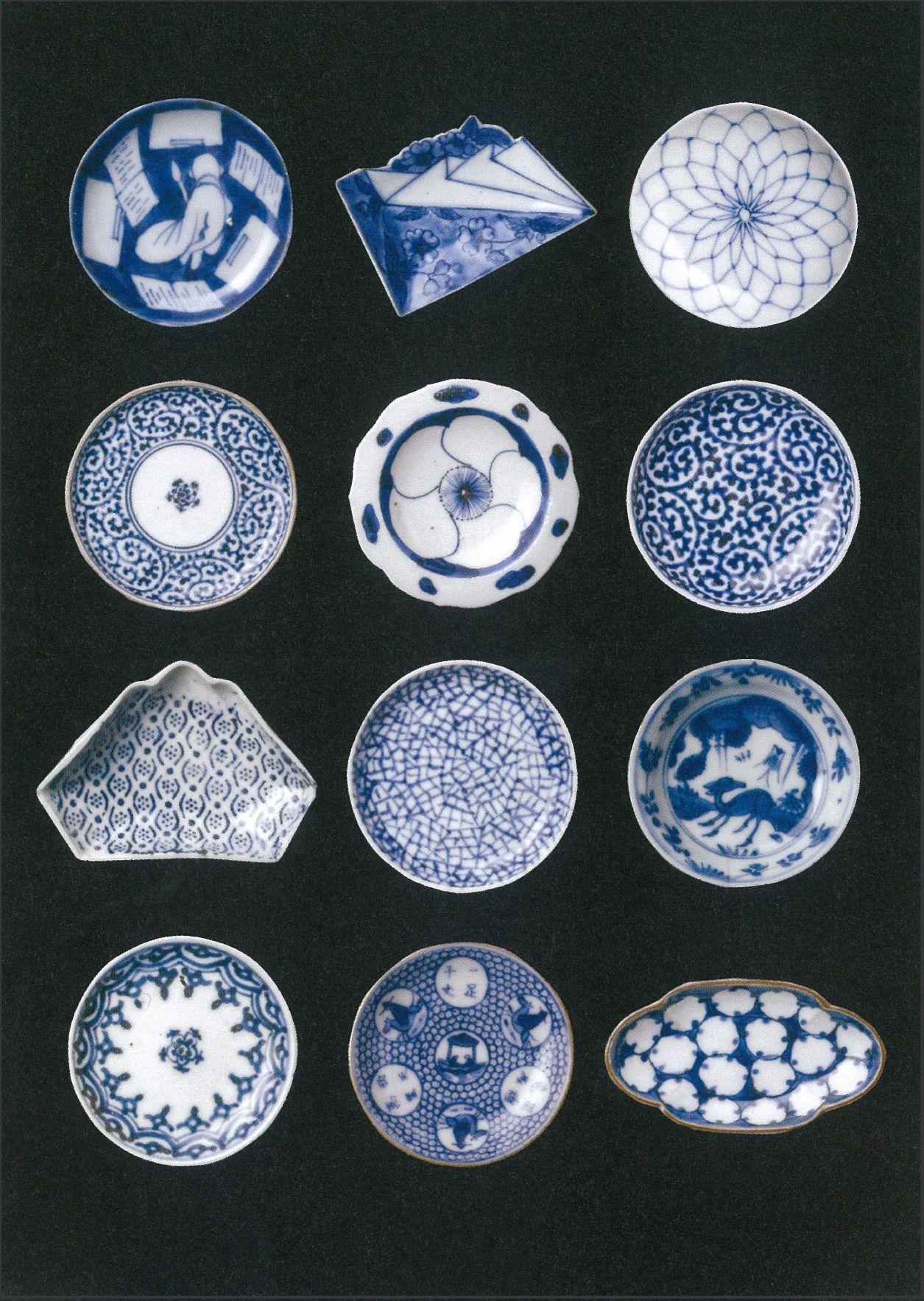 Japanese Small Plates Mame Sara 豆皿 Blue Pinterest