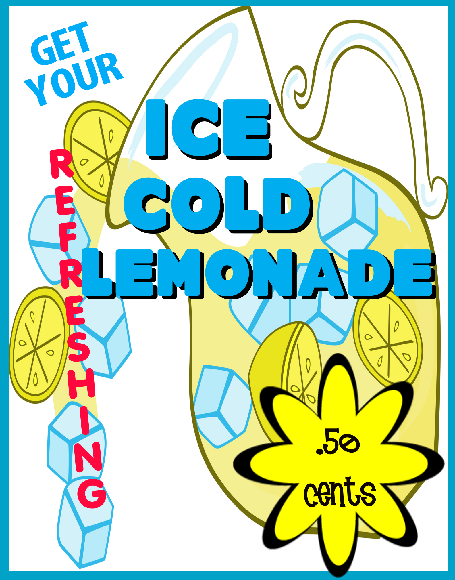 Lemonade Stand Poster To Help Your Event Cute Poster Poster Sale Poster