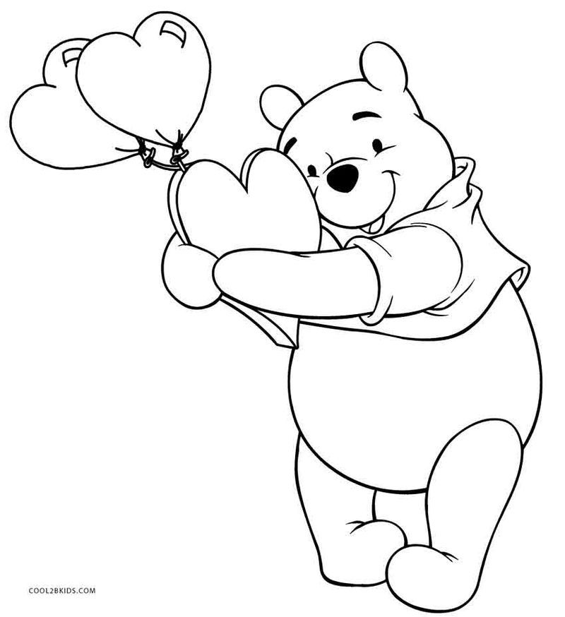 Winnie The Pooh Coloring Pages Printable - Coloring Home | 874x800