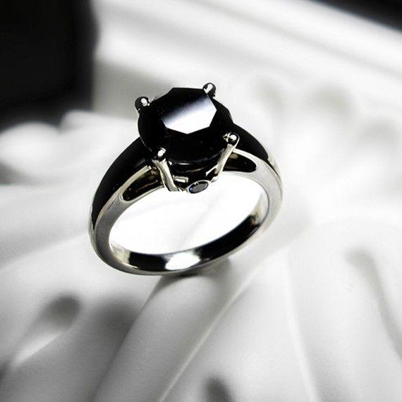 black diamond engagement ring black ice - Black Diamond Wedding Ring