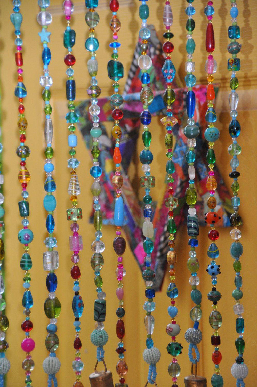 Ha hanging bead curtains for doorways - Beaded Curtain Glass Beaded Suncatcher Window Curtain Beaded Door Curtain Hanging Door Bead Bohemian Curtain Suncatcher Curtain Window Bead