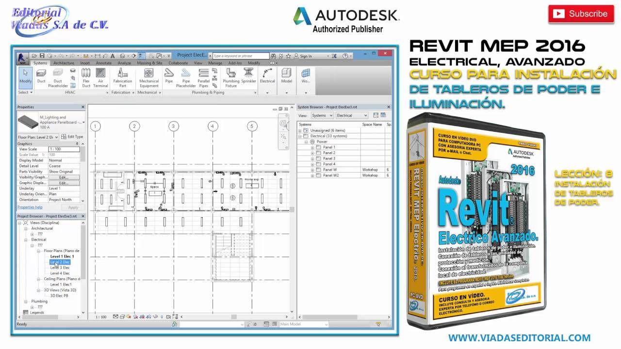 Revit 2016 Mep Electrical Avanzado Curso Tutorial En Español Leccion 8