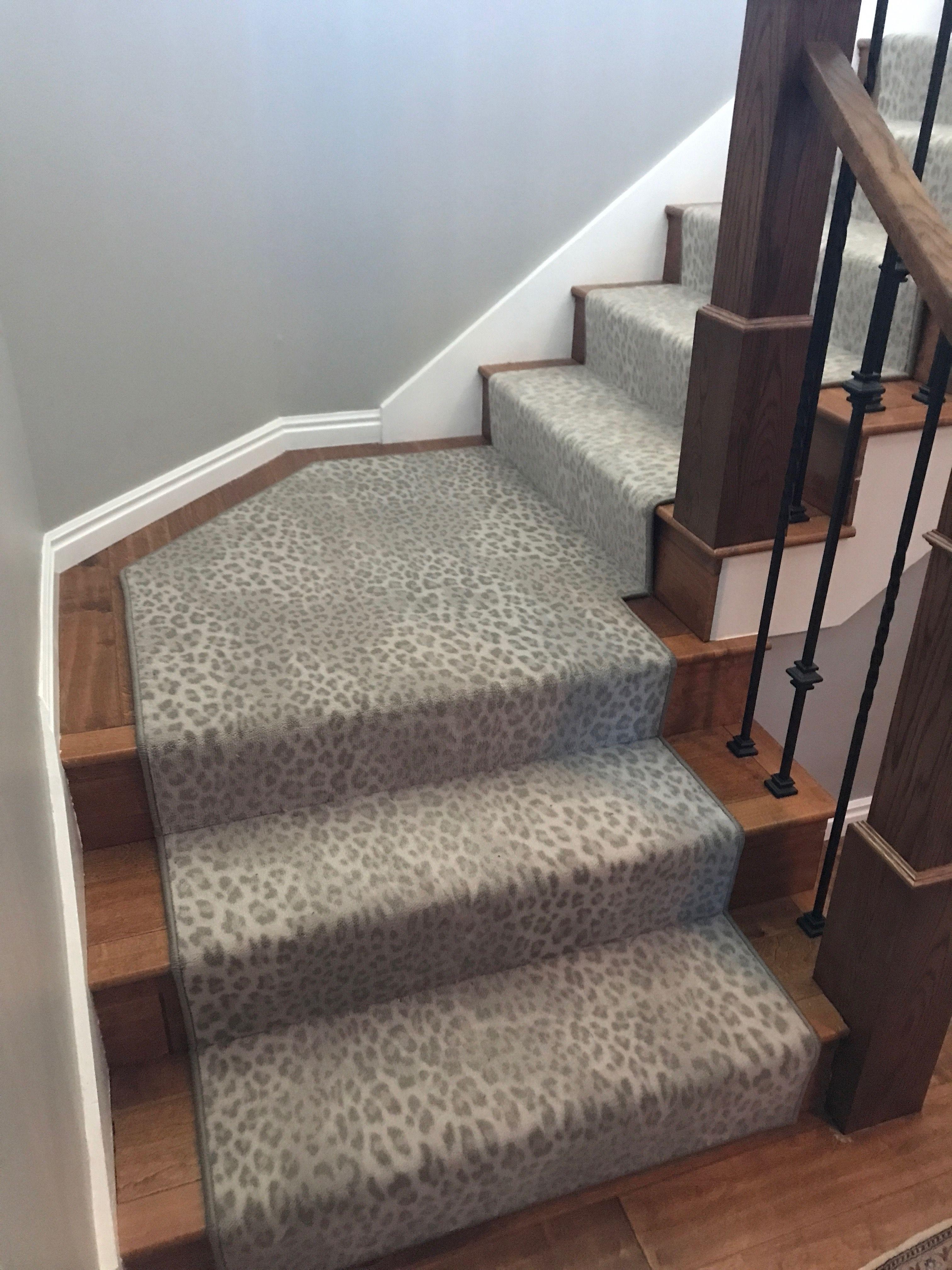 Best Snow Leopard Stair Runner Stair Runner Wood Stairs 400 x 300