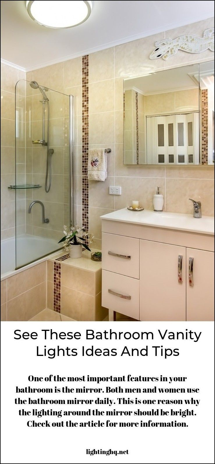 Visit the article to learn more about modern bath vanity light